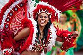 Dancer at folklore festival called Boi-Bumba, Parintins, Amazonas, Brazil