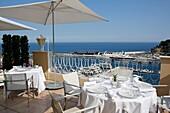 Europe, Principality of Monaco, property of SBM (Societe des Bains de Mer), luxury Hotel Hermitage.