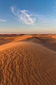 Sand dunes in desert, Dubai, United Arab Emirates