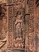 'Banteay Srei or Banteay Srey is a 10th century Cambodian temple dedicated to the Hindu god Shiva. Located in the area of Angkor in Cambodia. It lies near the hill of Phnom Dei, 25 km (16 mi) north-east of the main group of temples that once belonged to t