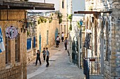 Street scene at the old city of Safed, upper Galilee, Israel.
