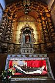 Chapel of the Third Order, Baroque period size Juanil, Convent of San Francisco, Gothic-Manueline, XV century, Evora, Alentejo, Portugal, Europe.