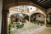 Can Oleza palace built by the family Descós in the fifteenth century, Historic-Artistic Monument, Palma, Mallorca, Balearic Islands, spain, europe.
