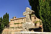 Sanctuary of Sant Honorat 1397, Mountain of Cura, Balearic Algaida.Mallorca.Islas. Spain.