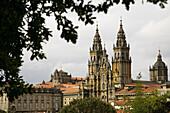 Cathedral, World Heritage Site, Way of St James, Santiago de Compostela, A Coruña province, Galicia, Spain