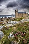 Nosa Señora da Barca church, Muxia, Way of St James, Costa da Morte, La Coruña, Galicia, Spain