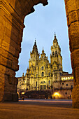 Cathedral on Plaza del Obradoiro square, World Heritage Site, Way of St James, Santiago de Compostela, A Coruña, Galicia, Spain