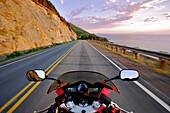View On Motorcycle, Cabot Trail, Cape Breton Island, Nova Scotia