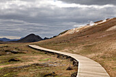 Pathway Through Lava And Sulphur Deposits, Krafla, Northern Iceland