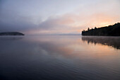 Sunrise Over A Lake On A Misty Morning, Algonquin Park, Ontario