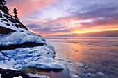 Ice And Saguenay Fjord At Sunrise, Sainte-Rose-Du-Nord, Quebec
