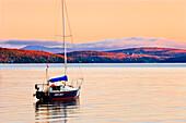 Artist's Choice: Boat At Sunrise, Memphremagog Lake, Eastern Townships, Quebec
