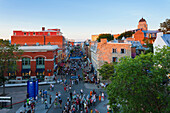 'People On Saint-Jean Street During Festival D'ete De Quebec; Quebec City Quebec Canada'