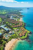 'Wailea coastline looking towards Makena, Maui, Hawaii, United States of America'