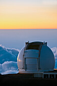 'Mauna Kea Summit, W.M Keck Observatory at sunset; Big Island, Hawaii, United States of America'