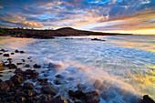 'Kua Bay Beach park at sunset; Big Island, Hawaii, United States of America'