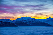 'Glowing Sunset Over The Swiss Alps; Locarno, Ticino, Switzerland'