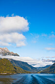 'Lake Manapouri On The Way To Doubtful Sound By Ferry; New Zealand'