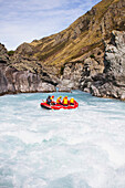 'Rafting Down The Rangitata Gorge And The Rangitata River; Rangitata, New Zealand'