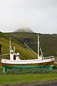 'Lionsklubbur Olafsvikur, An Old Icelandic Boat; Olafsvik, Snaefellsnes, Iceland'