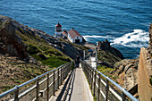 'Lighthouse Stairway At Point Reyes National Seashore; California, United States Of America'