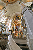 Main altar of the Dresdner Frauenkirche, Church of Our Lady, Dresden, Saxony, Germany