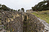 Funnel-shaped defensive entrance to Kuelap Fortress, Kuelap, Amazonas, Peru