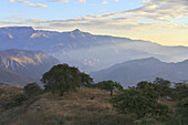 Northern Mountain Range of Peru at the headwaters of the Jequetepeque River, as seen from Kuntur Wasi, Cajamara, Peru