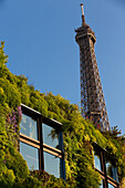 Vegetal facade of the museum of the quay branly, 7th arrondissement, paris, france