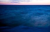 Blue Sea and Horizon at Dusk
