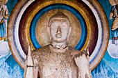 Statue at Ruvanvelisaya Dagoba, Mahavihara (The Great Monastery), Anuradhapura, UNESCO World Heritage Site, Cultural Triangle, Sri Lanka, Asia
