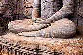 Seated Buddha in meditation, Gal Vihara Rock Temple, Polonnaruwa, UNESCO World Heritage Site, Sri Lanka, Asia