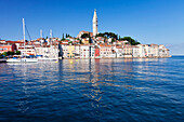 Old town and the cathedral of St. Euphemia, Rovinj, Istria, Croatia, Adriatic, Europe