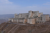 Syria, October 2010. The Knights Krak, architectural wonder, most impressive military construction in the Near-East