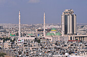 Syria, Aleppo, . Panoramic view of the country's second city, 350 km North from the capital, Damascus