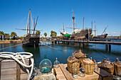 Spain, Andalucia Region, Huelva Province, Palos de la Frontera City, La Rabida, The Three Caravels wharf