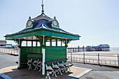 England, Lancashire, Blackpool, Promenade View and North Pier