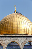 The Dome of the Rock, on Jerusalem's Temple Mount, is one of the holiest shrines in Islam. Jerusalem. Israel.