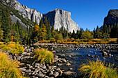 EL CAPITAN AND MERCED RIVER, YOSEMITE VALLEY, YOSEMITE NATIONAL PARK, CALIFORNIA, USA