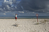 Portugal, Algarve, Olhao region of Faro, Nobody scrutinizing the horizon