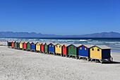 South Africa. Muizenberg beach huts.