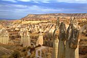 Turkey, Cappadocia, natural landscape Heritage of UNESCO, valley of love