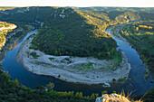 France, Gard (30), Gorges du Gardon, Belvedere Castellas of St. Anastasia, labeled Grand Site of France
