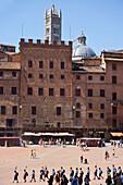 Piazza Del Campo In Siena, Tuscany, Italy © Carlos Sanchez Pereyra/ Axiom