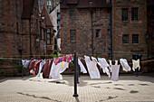 'Drying clothes in Dean Village; Edinburgh, Scotland'