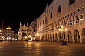 'St Mark's Square at night; Venice, Italy'