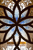 'Design on glass in the Sheikh Zayed Grand Mosque; Abu Dhabi, United Arab Emirates'
