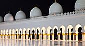 'Sheikh Zayed Grand Mosque at night; Abu Dhabi, United Arab Emirates'