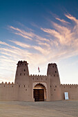 'Jahili Fort at sunrise; Al Ain, Abu Dhabi, United Arab Emirates'