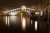 'Rialto Bridge at night; Venice, Italy'